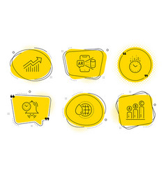 Time management world water and time icons set vector