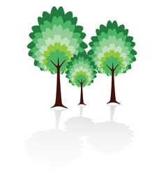 tree family vector image