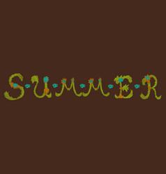 Trendy summer tropical design vector