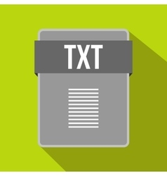 TXT file icon flat style vector image