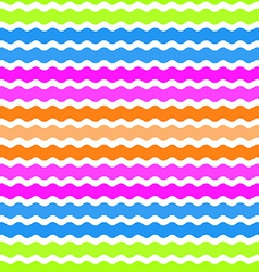 Wave green pink orange blue background seamless vector