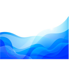 wavy abstract geometric background blue vector image