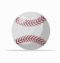 White ball with red seam vector