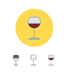 Wineglass icon goblet symbol vector