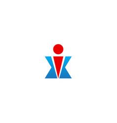 X active winner man business logo vector