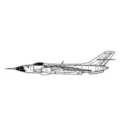 Yakovlev yak-28r brewer-d vector