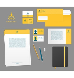 Yoga studio branding set vector image