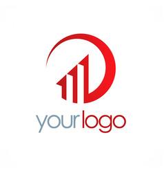 business chart progress logo vector image