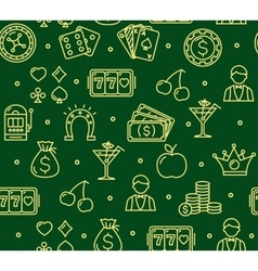 Casino Background Pattern vector image vector image