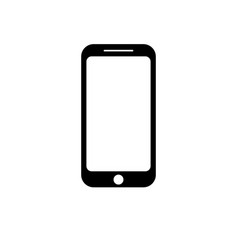icon smartphone in trendy flat style vector image