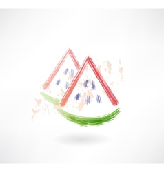 watermelon grunge icon vector image