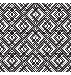 abstract seamless geometric black and white vector image vector image