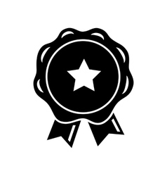Award ribbon with star icon simple style vector image vector image
