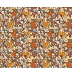 Crowd people color seamless pattern vector image vector image
