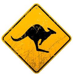 Kangaroo Vintage Sign vector image vector image