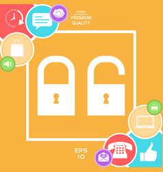 lock unlock - set ico vector image
