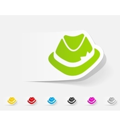 realistic design element hat vector image