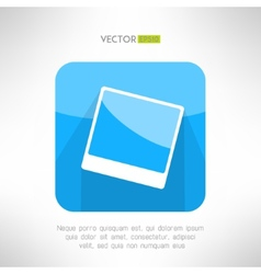 Vintage photo frame icon in modern clean and vector image vector image