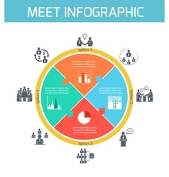 Business meeting infographics vector image vector image