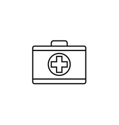 first aid box line icon medical case and bag vector image vector image
