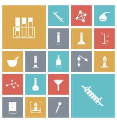 icons tile chemical vector image vector image