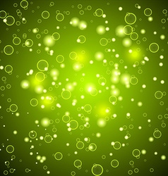 Shiny abstract background Green color vector image