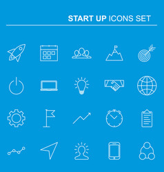 startup and business line icons set design vector image vector image