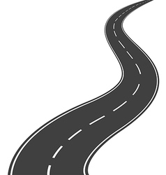 Winding road vector