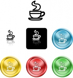 coffee cup icon symbol vector image vector image