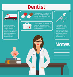 dentist and medical equipment icons vector image vector image