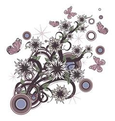 Retro floral ornament vector image vector image