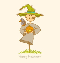scarecrow vector image vector image