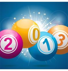 2013 bingo lottery balls vector
