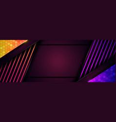 Abstract futuristic purple and shinny orange vector