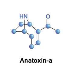 anatoxin-a or vfdf vector image