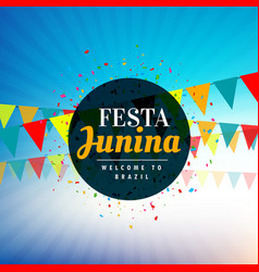 background for festa junina festival vector image