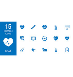 Beat icons vector