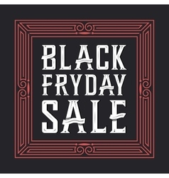 Black friday sale background Creative font vector
