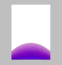 Blank brochure template from layer stripes vector