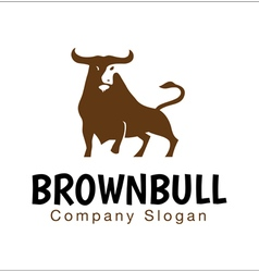 Brown Bull Design vector