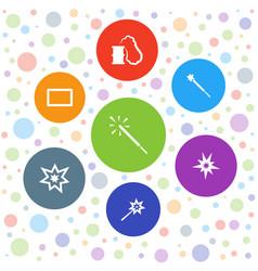 Burst icons vector
