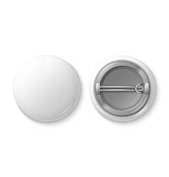 Button pin badge white blank badge mockup vector