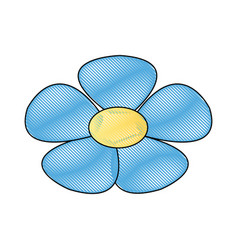 Cartoon cute flower natural plant decoration vector