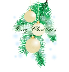Christmas background with evening balls vector image