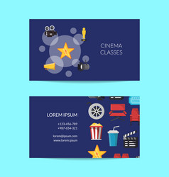 Cinema business card template talent agency vector