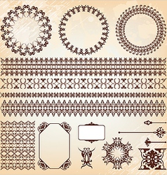 collection of vintage elements for design vector image