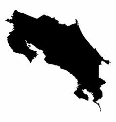 costa rica silhouette map vector image