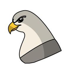 Eagle bird isolated icon vector