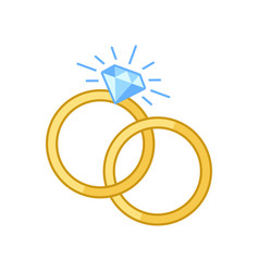 engagement rings vector image