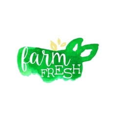 Farm Fresh Products Promo Sign vector image